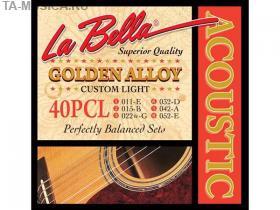 Струны для акустической гитары La Bella 40PCL 11-52 купить