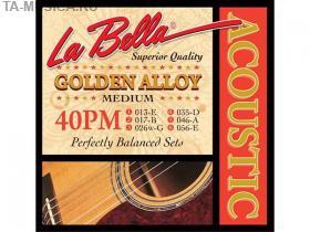 Струны для акустической гитары La Bella 40PM 13-56 купить