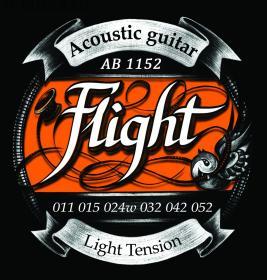 Струны для акустической гитары Flight Super Light 11-52 купить