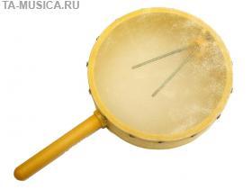 Бубен - барабан на ручке с пружиной внутри, 15 см, Angel купить