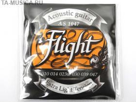 Струны для акустической гитары Flight Extra Light купить с доставкой