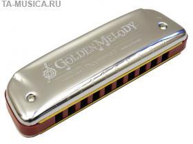 Губная гармоника блюзовая HOHNER Golden Melody A купить с доставкой