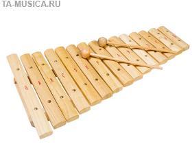 Ксилофон деревянный диатонический 15 нот FX-15N, Flight купить