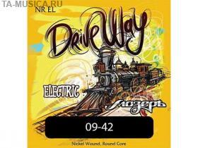 Струны для электрогитары NR-EL Drive Way, Extra Light, 9-42, Мозеръ купить