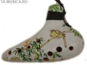 Окарина классическая расписная 10 отверстий G# (ВК) купить в Москве с доставкой