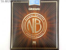 Струны для акустической гитары D'ADDARIO NB1253 Nikel Bronze 12-53 купить