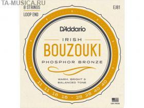 Струны для ирландского бузуки, фосфорная бронза, 11-40, EJ81, D'Addario купить