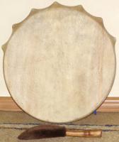 Купить Бубен шаманский с колотушкой (Хакассия) 30 см (Ч)