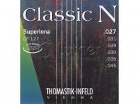Струны для акустической гитары Thomastik Classic N CF127 нейлон/хромированная сталь 027-045