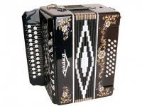 """Гармонь """"Чайка 204"""" 25х25-II, черная, S6XL-A-BLACK, Шуйская гармонь"""