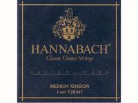 Струны для классической гитары, среднее натяжение, 728MT Custom Made Black, Hannabach