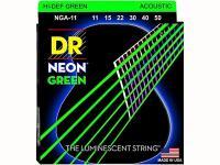 Струны для акустической гитары фосфорная бронза с покрытием, 11-50, NGA-11 Neon Green, DR