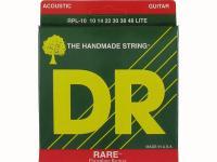 Струны для акустической гитары фосфорная бронза, 10-48, RPL-10 Rare, DR