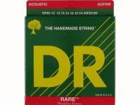 Струны для акустической гитары фосфорная бронза, 12-54, RPM-12 Rare, DR