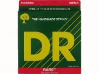 Струны для акустической гитары фосфорная бронза, 11-50, RPML-11 Rare, DR