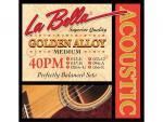 Струны для акустической гитары La Bella 40PM 13-56