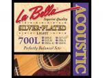Струны для акустической гитары La Bella 700L посеребренные 009-050