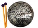 Глюкофон 22 см 8 лепестков с гравировкой Inoy