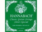 Струны для классической гитары, нейлон/посеребренные, 815LT Green SILVER SPECIAL, Hannabach