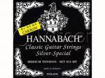 Струны для классической гитары, карбон/посеребренные, 815MTC CARBON Black SILVER SPECIAL, Hannabach